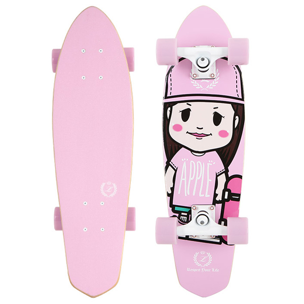 로그 테크니컬 LTD 우드 크루져 컴플릿  #ZL4810PK / 7.5×27 LOG(LIFE OF GRACE) TECHNICAL LTD CRUISER G011 APPLE GIRL FOR SK8