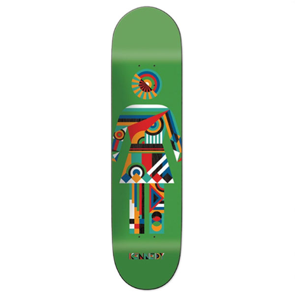 걸 스케이트 데크 조립용 상판  # / 8.25 x 31.75 GIRL CONSTRYCTIVST SERIES KENNEDY DECK