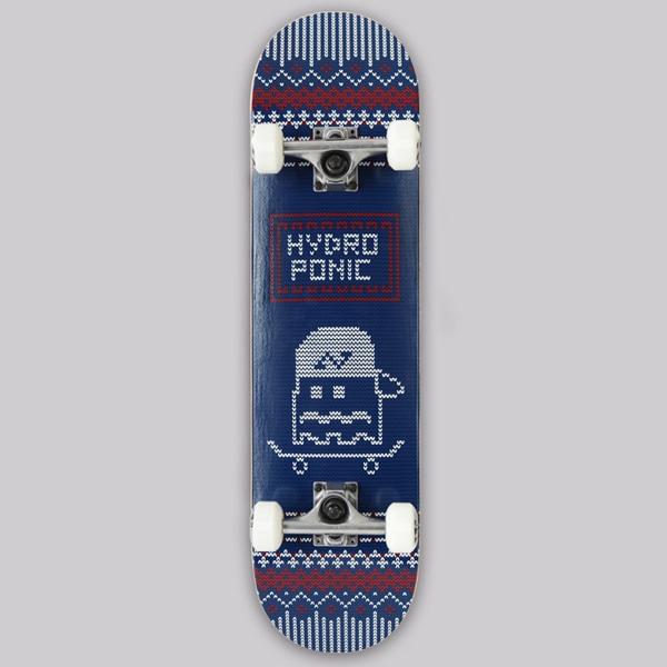 하이드로포닉 크로셰 블루 스케이트보드 컴플릿  #ZH4805BU/ 7.875 HYDROPONIC CROCHET BLUE COMPLETE