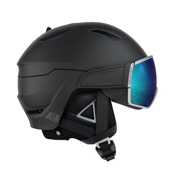 살로몬 스키 헬멧 드라이버 플러스 #FSA801BK / BLACK/SILVER/SOLAR 1819 SALOMON DRIVER+ BLACK/SILVER/SOLAR