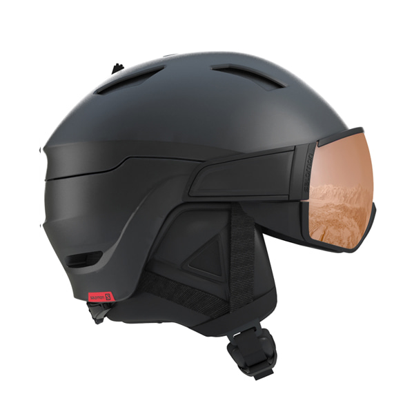 살로몬 스키 헬멧 드라이버 에스 #FSA803YH / BLACK/RED ACCENT/UNIV 1819 SALOMON DRIVER S BLACK/RED ACCENT/UNIV