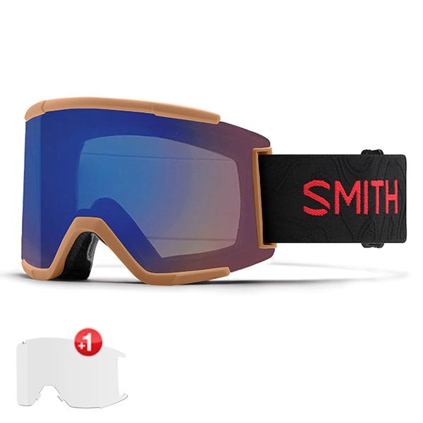 스미스 고글 스쿼드 XL+추가렌즈 #BSM80500 1819 SMITH SQUAD XL CODY TOWNSEND AC  PHOTO ROSE FLASH+CLEAR