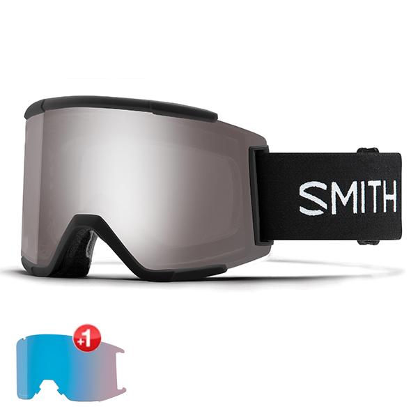 스미스 고글 스쿼드 XL+추가렌즈 #BSM805BK 1819 SMITH SQUAD XL BLACK  SUN PLATINUM MIRROR+STORM ROSE FLASH