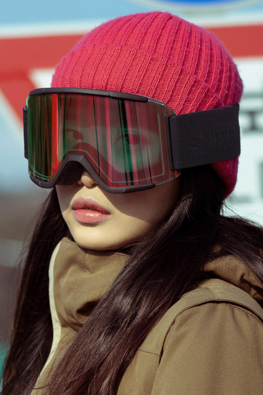 2021 스미스 고글 스쿼드XL 아시안핏  2021 SMITH SQUAD XL_BLACK OUT-PHOTO RED MIRROR+CLEAR_변색렌즈/추가렌즈/아시안핏/남녀공용_DBSM021YH