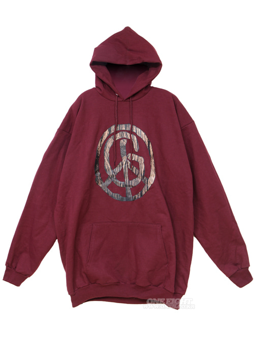 지비피/GBP 톨 우드 피스 후드/후디 #RGB505MR / MAROON GBP TALL WOOD PEACE HOOD
