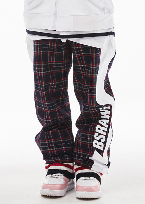 비에스래빗 남여공용 보드복 트랙 팬츠 #9BS802CN / CHECK NAVY 1819 BSRABBIT BSRAWF WATERPROOF TRACK PANTS