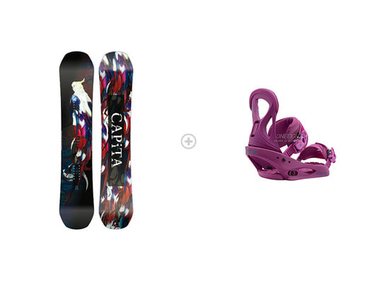 [S354]데크 : 1718 CAPITA WMS BIRDS OF A FEATHER 144 / 146바인딩 : 1718 BURTON STILETTO Re:Flex Hot Purple2CP70400+4B2704PU