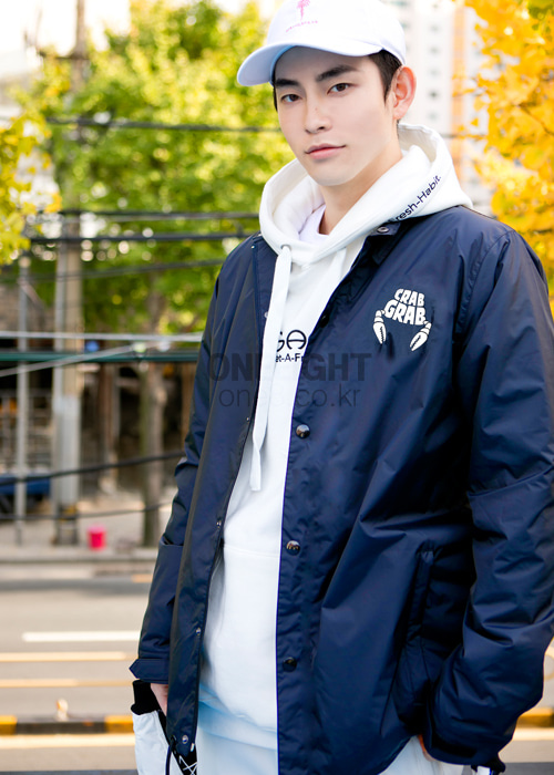 크랩그랩 크랩 코치자켓 #RC6701NV / NAVY CRABGRAB COACH CRAB JACKET