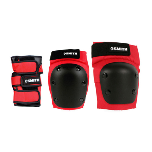 SMITH SAFETY GEAR / #FSM502RE[스미스 보호대]ADULT 3-PACK SAFETY GEAR SETRED