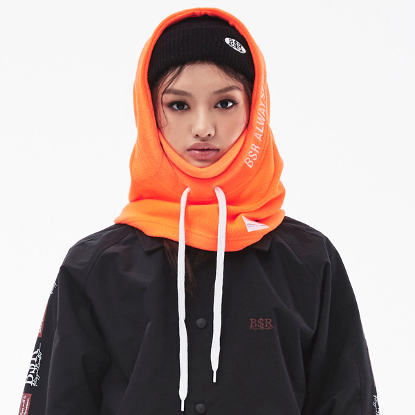 비에스래빗 후드워머 #LBS801OR / FLUORESCENT ORANGE 1819 BSRABBIT BSR ALWAYSFUN HOODWARMER