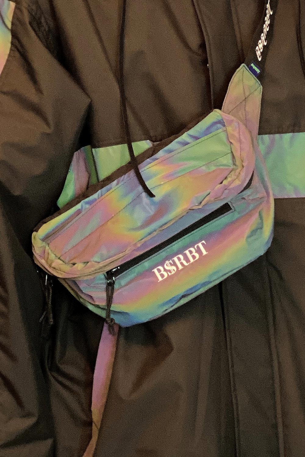 2021 비에스래빗 아이딜 웨이스트 백 2021 BSRABBIT BSRBT IDEAL WAIST BAG_RAINBOW REFLECTIVE_남녀공용_FKBS004R2